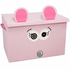 coffre jouet caisse de rangement coquelicos la souris les d glingos. Black Bedroom Furniture Sets. Home Design Ideas