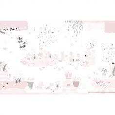 Fresque murale intissé jardin rose (4 x 2,48 m)