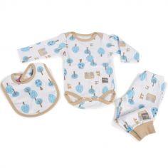 Coffret cadeau naissance 3 pièces Preschool Forêt (3-6 mois)