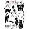 Tatouages éphémères Chats (15 motifs) - Mimi'lou