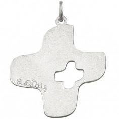 Pendentif Arcabas Croix 18 mm (or blanc 750°)