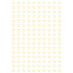 Stickers étoiles vanille (29,7 x 42 cm)