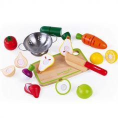 Maxi set de fruits et légumes en bois à découper