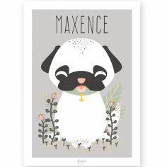Affiche A4 Les Animignons le chien (personnalisable)