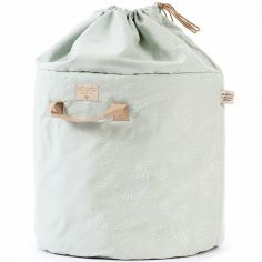 Sac à jouets Bamboo White bubble Aqua