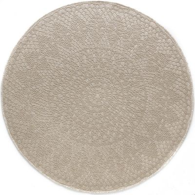 Tapis rond Crochet Ivoire (135 cm)  par Art for Kids