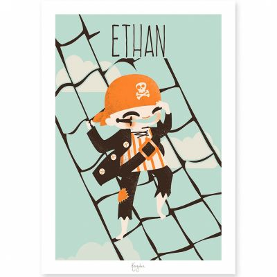 Affiche A4 Les Pirates Le moussaillon (personnalisable)  par Kanzilue