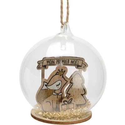 Boule Petit renard Mon 1er Noël  par Amadeus Les Petits