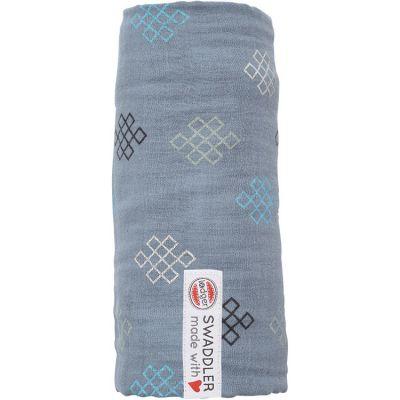 Maxi lange en coton Xandu Ocean bleu (120 x 120 cm)  par Lodger