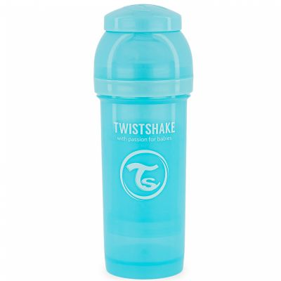 Biberon anti-colique bleu pastel (260 ml)  par Twistshake