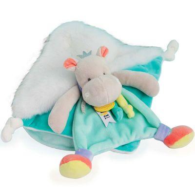 Doudou plat Tropi'cool Hippopotame (20 cm)  par Doudou et Compagnie