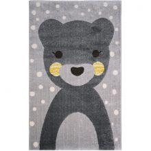 Tapis enfant Otto ours gris (100 x 150 cm)  par Nattiot