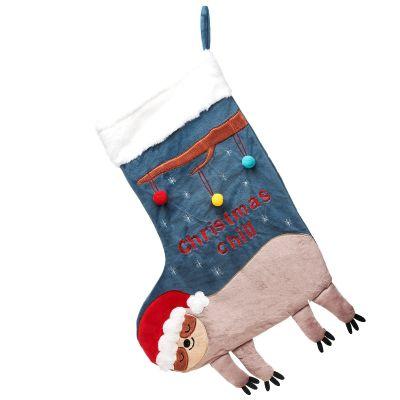 Chaussette de Noël Paresseux  par sass & belle