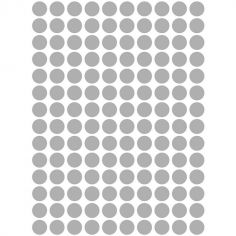 Stickers muraux ronds argentés