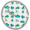 Doudou attache-sucette animaux de la forêt bleu et vert - Fresk