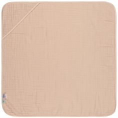 Cape de bain en mousseline rose pâle (0-2 ans)