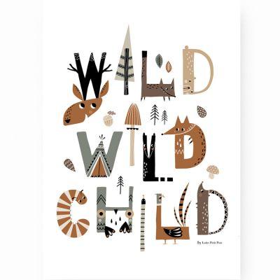 Affiche A3 Wild Wild Child  par Lutin Petit Pois