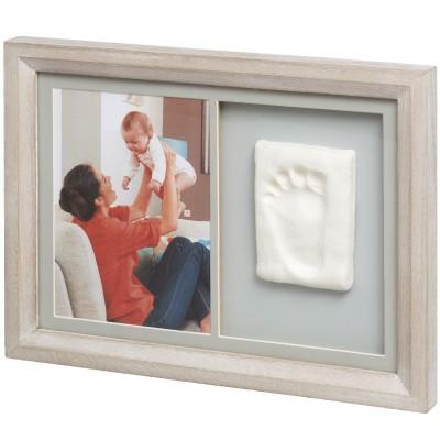 Cadre photo et empreinte Tiny touch bois cérusé