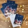 Carte de voeux A6 Village de Noël  par Kanzilue