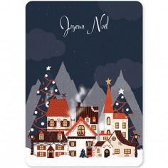 Carte de voeux A6 Village de Noël