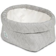 Panier de toilette Diamond knit gris (13 x 20 cm)