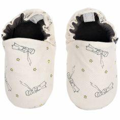Chaussons en coton et cuir Le Petit Prince (3-6 mois)