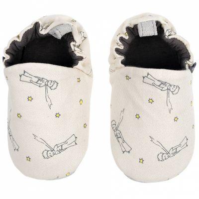 Chaussons en coton et cuir Le Petit Prince (3-6 mois)  par Petit Jour Paris
