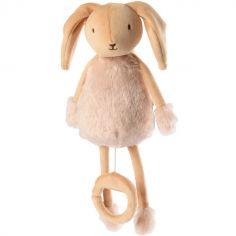 Peluche musicale Les doux Bidous Valentin le lapin (28 cm)