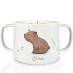 Tasse en porcelaine Ourson brun (personnalisable)