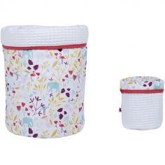 Lot de 2 paniers de toilette Exotic (20 x 20 cm)