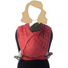 Echarpe de portage BB-Slen coton bio red chili (4,9 mètres)  par Babylonia carriers