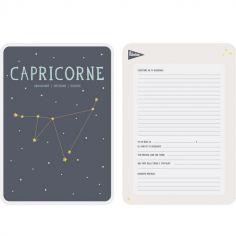 Affiche signe astrologique Capricorne (21,4 x 32,5 cm)