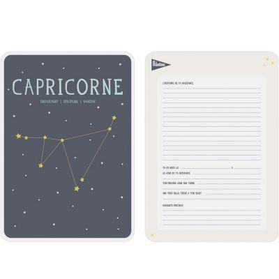 Affiche signe astrologique Capricorne (21,4 x 32,5 cm)  par Milestone