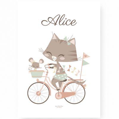 Affiche A4 Géraldine & Souricette (Personnalisable)  par Lutin Petit Pois