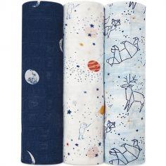 Lot de 3 maxi langes Silky Soft Stargaze (120 x 120 cm)