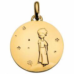 Médaille Le Petit Prince sur sa planète 14 mm (or jaune 750°)