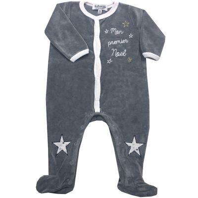 Pyjama chaud Mon Premier Noël (3 mois)  par BB & Co