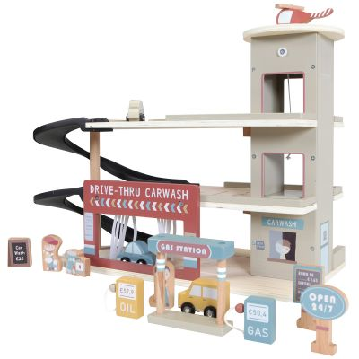 Garage en bois + figurines  par Little Dutch