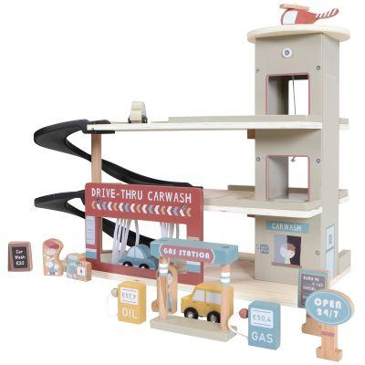 Garage en bois + figurines  par Little Dutch
