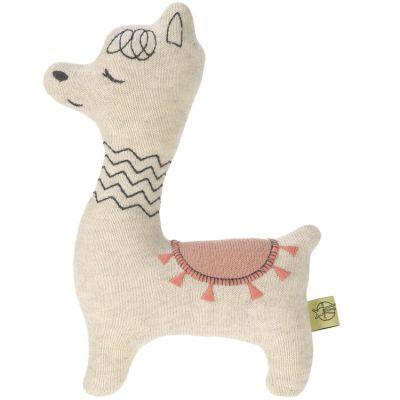 Peluche tricoté Glama Lama rose (22,5 cm)  par Lässig