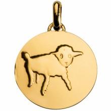 Médaille du Petit Prince Dessine-moi un mouton 14 mm (or jaune 750°)  par Monnaie de Paris