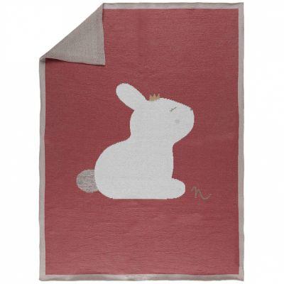 Couverture bébé en tricot Pili le lapin Lina & Joy (75 X 100 cm)  par Noukie's