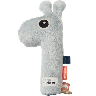 Hochet sensoriel Raffi la girafe bleu clair (17 cm)  par Done by Deer