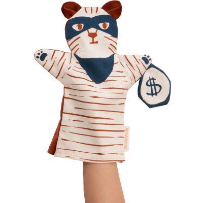 Marionnette à main tigre Tiger super-héros Nobodinoz
