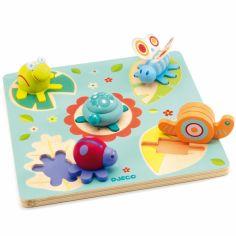 Puzzle encastrement Tortue et ses amis (5 pièces)