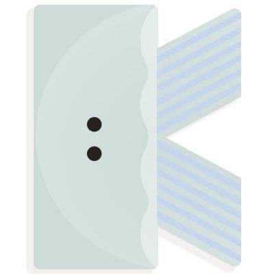 Lettre décorative méduse K Djeco