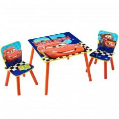 Ensemble table et 2 chaises Cars