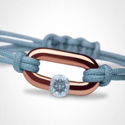 Bracelet 'Newborn' Pierre précieuse ou fine (or rose 750°)  par Mikado