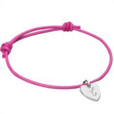 Bracelet Initiales avec coeur personnalisable (argent 925°)