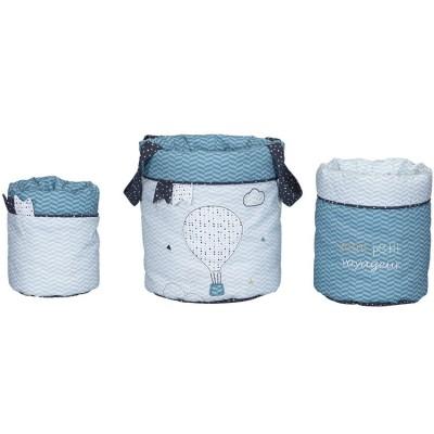 Lot de 3 paniers de toilette Lazare  par Sauthon